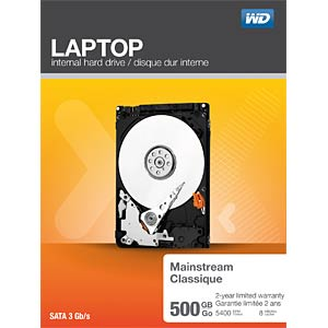Notebook-Festplatte, 500 GB, WD Mainstream WESTERN DIGITAL WDBMYH5000ANC-ERSN