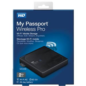 Externe 2TB Festplatte My Passport Wireless Pro WESTERN DIGITAL WDBP2P0020BBK-EESN