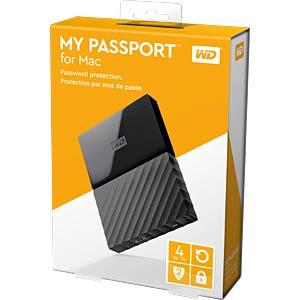 Externes 4TB-Laufwerk WD My Passport for Mac WESTERN DIGITAL WDBP6A0040BBK-WESN