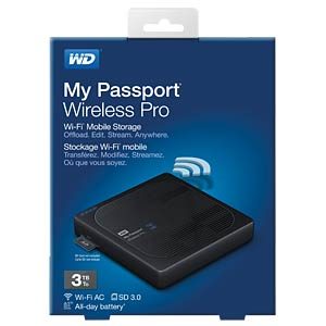 WD My Passport Wireless Pro 3 TB WESTERN DIGITAL WDBSMT0030BBK-EESN