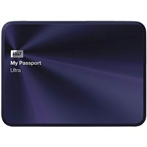 WD My Passport Ultra Metal Edition 1 TB blau-sw WESTERN DIGITAL WDBTYH0010BBA-EESN