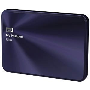 WD My Passport Ultra Metal Edition 1 TB blue-black WESTERN DIGITAL WDBTYH0010BBA-EESN