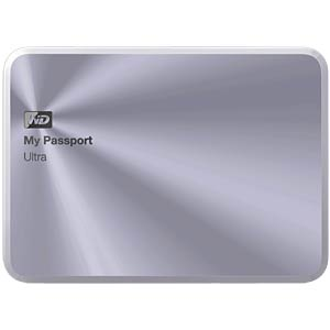 WD My Passport Ultra Metal Edition 2 TB silver WESTERN DIGITAL WDBEZW0020BSL-EESN