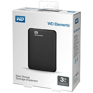 WD Elements portable 3TB WESTERN DIGITAL WDBU6Y0030BBK