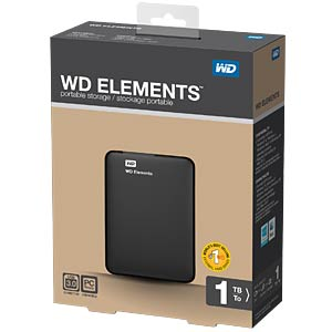 WD Elements portable 1TB WESTERN DIGITAL WDBUZG0010BBK