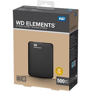 WD Elements portable 500GB WESTERN DIGITAL WDBUZG5000ABK