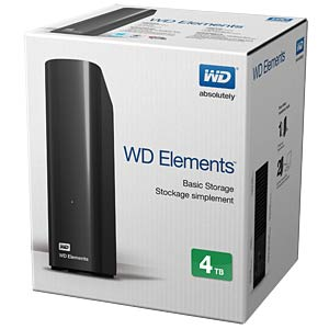4TB WD Elements Desktop WESTERN DIGITAL WDBWLG0040HBK-EESN