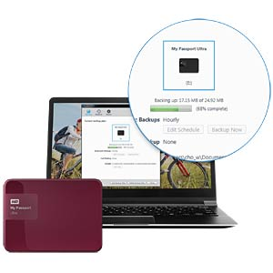 WD My Passport Ultra 1 TB rot WESTERN DIGITAL WDBGPU0010BBY