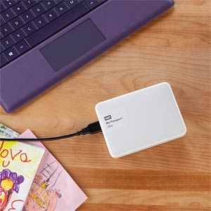 WD My Passport Ultra 1 TB white WESTERN DIGITAL WDBGPU0010BWT