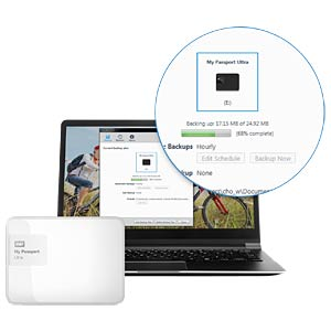 WD My Passport Ultra 2 TB white WESTERN DIGITAL WDBBKD0020BWT