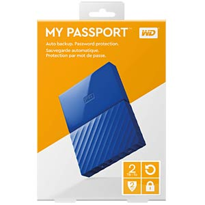 WD 2TB My Passport Portable Hard Drive blue WESTERN DIGITAL WDBYFT0020BBL