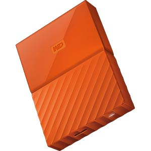 Externes 2TB-Laufwerk WD My Passport orange WESTERN DIGITAL WDBYFT0020BOR-WESN