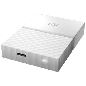 WD 2TB My Passport Portable Hard Drive white WESTERN DIGITAL WDBYFT0020BWT-WESN