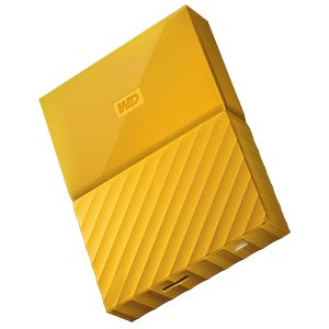 Externes 2TB-Laufwerk WD My Passport gelb WESTERN DIGITAL WDBYFT0020BYL-WESN