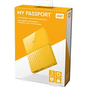 WD My Passport 3TB gelb WESTERN DIGITAL WDBYFT0030BYL-WESN