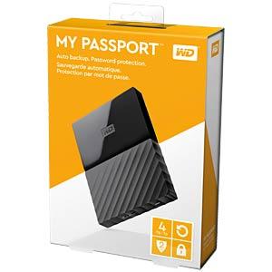Externes 4TB-Laufwerk WD My Passport schwarz WESTERN DIGITAL WDBYFT0040BBK-WESN