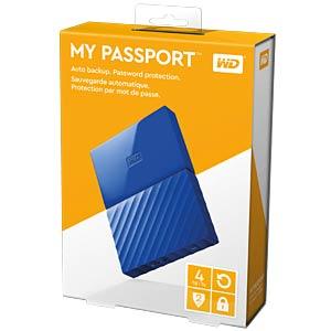 WD 4TB My Passport Portable Hard Drive blue WESTERN DIGITAL WDBYFT0040BBL-WESN
