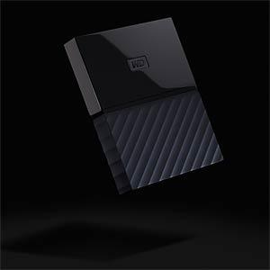 Externes 1TB-Laufwerk WD My Passport schwarz WESTERN DIGITAL WDBYNN0010BBK-WESN