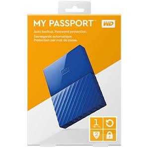 WD My Passport 1TB blau WESTERN DIGITAL WDBYNN0010BBL-WESN