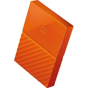 Externe 1TB Festplatte My Passport orange WESTERN DIGITAL WDBYNN0010BOR-WESN