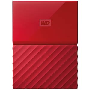 WD 3TB My Passport Portable Hard Drive red WESTERN DIGITAL WDBYFT0030BRD-WESN