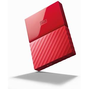 WD 1TB My Passport Portable Hard Drive red WESTERN DIGITAL WDBYNN0010BRD-WESN