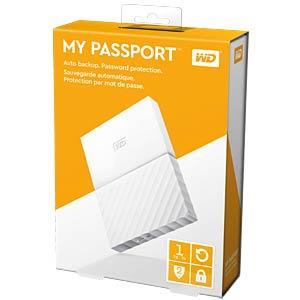 WD My Passport 1TB weiß WESTERN DIGITAL WDBYNN0010BWT-WESN