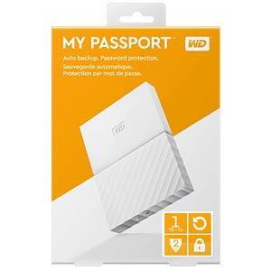 WD 1TB My Passport Portable Hard Drive white WESTERN DIGITAL WDBYNN0010BWT-WESN