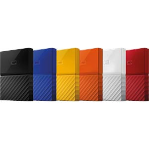 Externes 3TB-Laufwerk WD My Passport orange WESTERN DIGITAL WDBYFT0030BOR-WESN