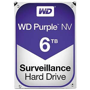 int. HDD 3,5´´ SATA3 6TB WD Purple NV WESTERN DIGITAL WD6NPURX