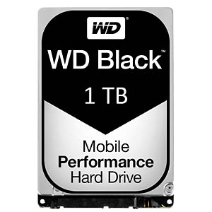 Notebook hard drive 1 TB, WD Black WESTERN DIGITAL WD10JPLX