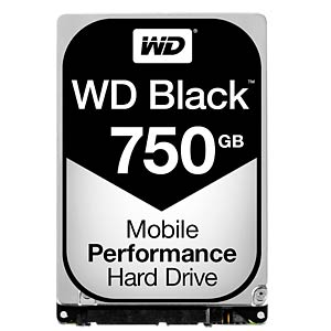 Notebook-Festplatte, 750 GB, WD Black WESTERN DIGITAL WD7500BPKX