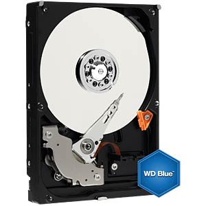 "WD Blue 3.5"" PC hard drive with 2 TB WESTERN DIGITAL WD20EZRZ"