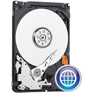 Notebook hard drive, 320 GB, WD Blue WESTERN DIGITAL WD3200LPCX