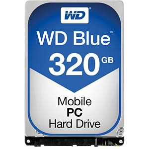 Notebook-harde schijf, 320 GB, WD Blue WESTERN DIGITAL WD3200LPCX