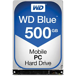 Notebook hard drive, 500 GB, WD Blue WESTERN DIGITAL WD5000LPCX
