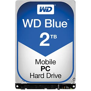 Notebook hard drive, 2 TB, WD Blue WESTERN DIGITAL WD20NPVZ