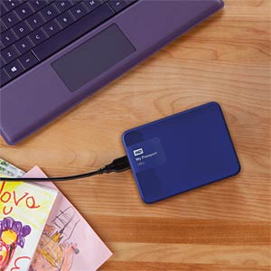 WD My Passport Ultra 1 TB blue WESTERN DIGITAL WDBGPU0010BBL