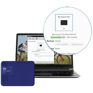 WD My Passport Ultra 4 TB blau WESTERN DIGITAL WDBBKD0040BBL-EESN
