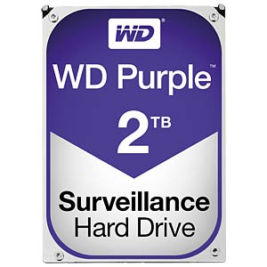WD Purple Surveillance Hard Drive 2 TB WESTERN DIGITAL WD20PURZ
