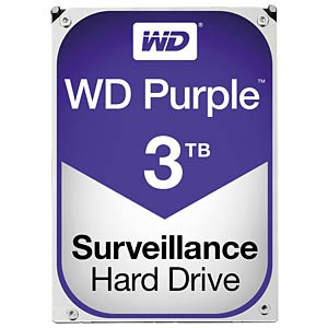 Desktop hard drive, 3 TB, WD Purple WESTERN DIGITAL WD30PURX