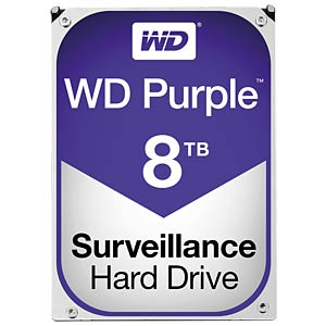 WD Purple 3,5-Zoll-Video-Festplatte mit 8 TB WESTERN DIGITAL WD80PUZX
