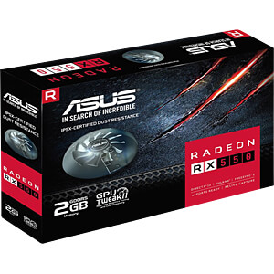 ASUS Radeon RX 550 - 2 GB ASUS 90YV0AG1-M0NA00