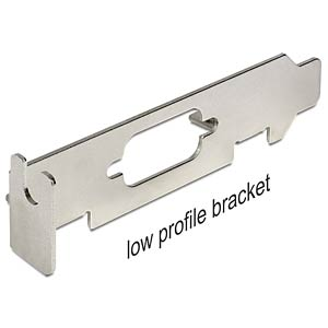 BRACKET LP3 - Low Profile Bracket mit Sub-D 9 Ausschnitt