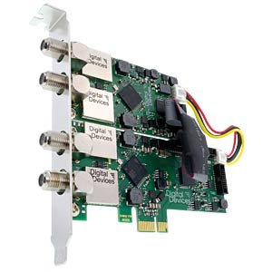 4 Tuner TV Karte DVB-S/S2 für PCIe DIGITAL DEVICES 172204