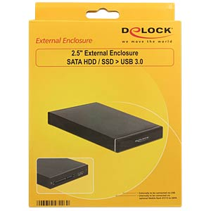 External HDD housing, SATA 2.5 to USB 3.0/SATA DELOCK 47226