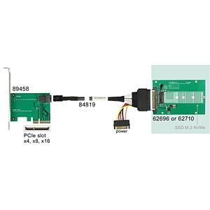 U.2 SFF-8639 > M.2 NGFF NVMe Key M DELOCK 62710