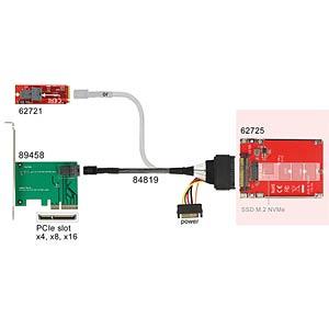 Konverter U.2 SFF-8639 > M.2 NVMe Key M DELOCK 62725