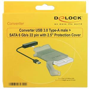 Adapter USB 3.0 > SATA-HDD mit Hülle DELOCK 62742