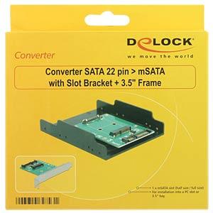 Konverter SATA 22 Pin > mSATA Slotblech + 3.5'' DELOCK 62743